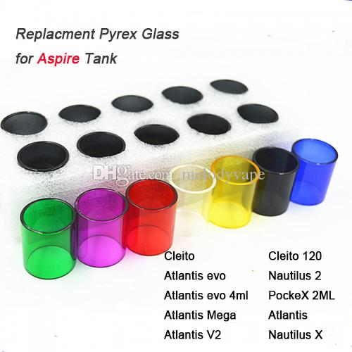 Replacement Pyrex Glass for Cleito Nautilus X Cleito 120 Replacement Glass Sleeve Tube Glass tube Atomizers