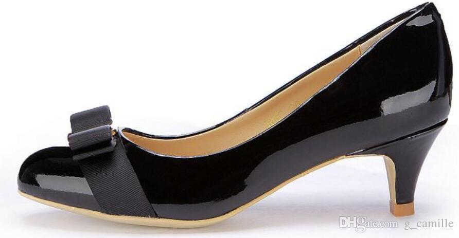 c98dcc1f Compre Zapatos De Mujer De Tacón Alto Bombas De Modelo Básico Zapatos De  Novia De Punta Estrecha Sexy Bombas De Color Rosa Rojo Zapatos De Piel De  Oveja ...
