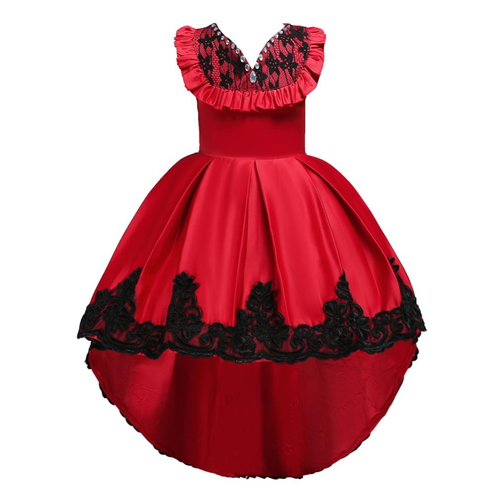 caeb06f5ef66a Diamond Flower Girls Dresses Birthday Wedding Party Pageant Long Princess Dress  Kid Christmas Costume Clothes New Pattern Prom Gown 4 14T Flower Girls ...