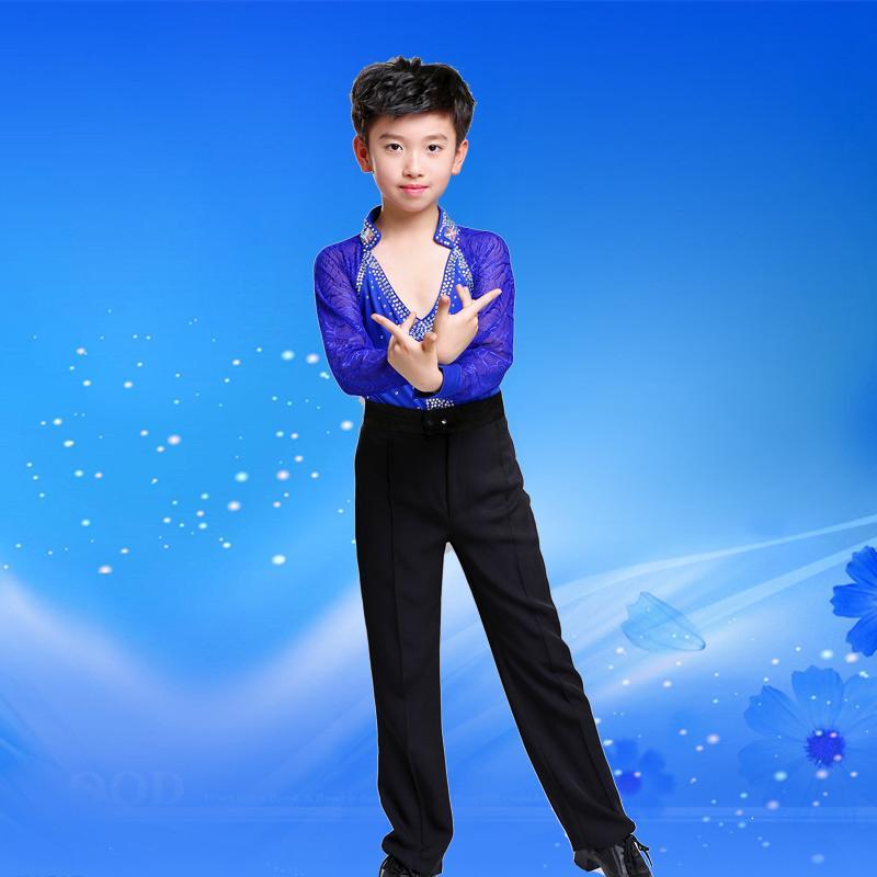 95da8d4fbff72 Hot Sale Fashion Latin Dance Competition Costumes Kids Boys Latin ...