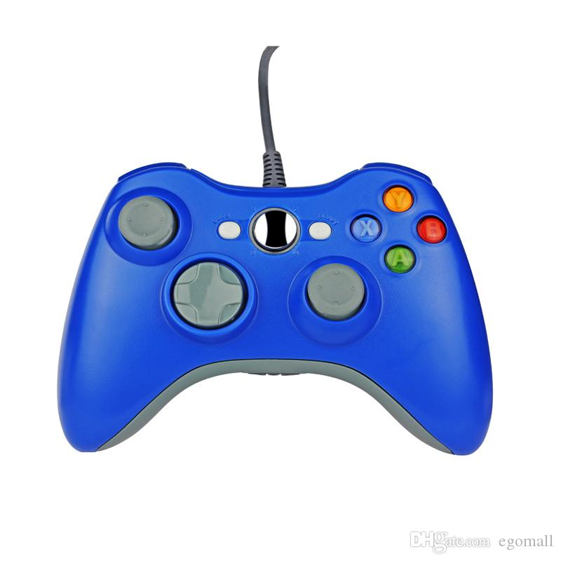Game Controller Xbox 360 Gamepad Nero USB Wire PC XBOX 360 Joypad Joystick Accessorio PC laptop