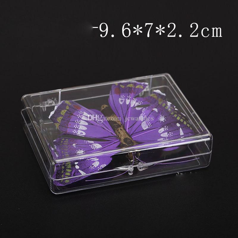 Transparent Clear Box Sealed Package Display Plastic Rectangular Playing Cards Business Card Storage Box