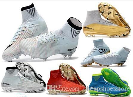 a00e8d0b3 2019 2017 High Quality Mercurial Superfly V FG Champions CR7 Ronaldo Kids  Youth Football Shoes Magista Obra Soccer Cleats Men Soccer Shoes From ...