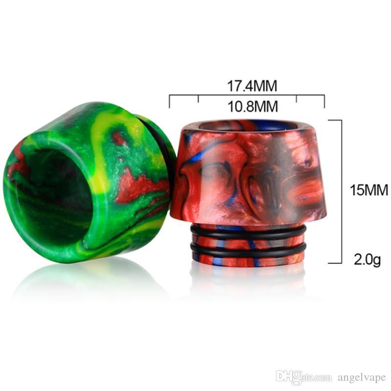 Il più economico gocciolamento punta a goccia in resina epossidica punte a goccia larga 810 boccaglio Fit TFV8 TFV12 Prince Tfv8 Big Baby con confezione al dettaglio