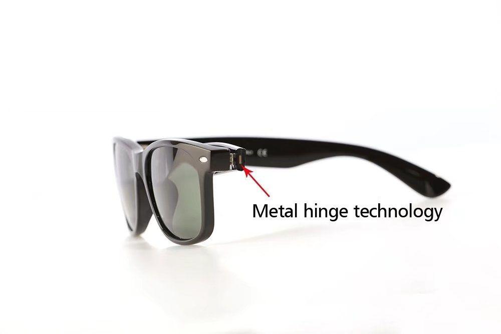 Бренд Дизайнер Классические Солнцезащитные Очки Мужчины Женщины Металлический шарнир UV400 стеклянные линзы Ретро Винтаж Солнцезащитные очки Очки с бесплатной розничной упаковке и коробке
