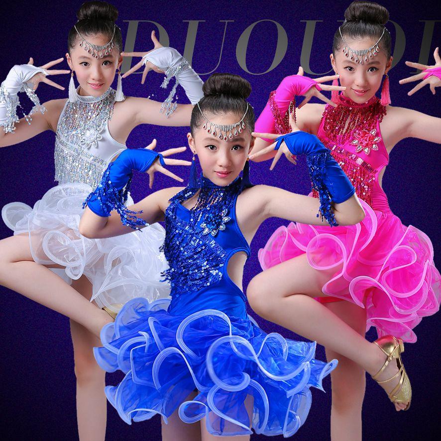Acquista Vestito Da Ballo Latino Ragazze Bambini Salsa La Concorrenza  Indossare Gonne Rosse Costumi Da Ballo Abiti Da Ballo Bambini Frangia  Paillettes A ... fcbe950c410