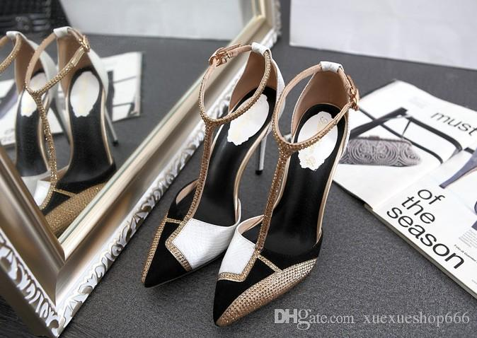 eastbay sale online New sexy women high heels rhinestones pointed toes high heels temperament sexy spell color simple shoes sexy women party high heels free shipping best wholesale buy cheap shopping online NhGzw6cTR7