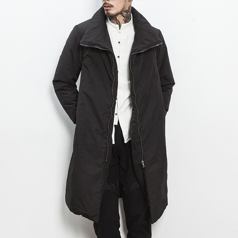bb3935fdd3a913 2019 MRDONOO 2017 In The Long Winter Coat Young Men Thickening Slim Collar  Type Chinese Mens Size Retro Trend Wind Coat From Huoxiang