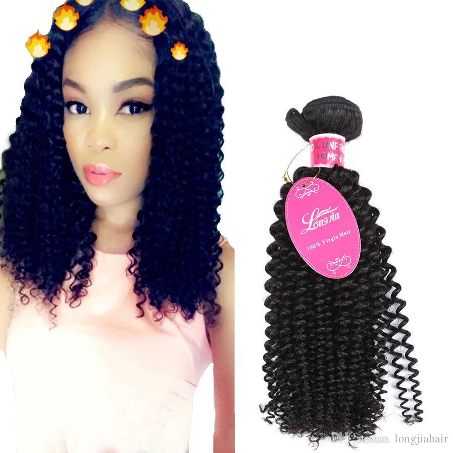 Brazilian Afro Kinky Deep Curly 3 Bundles Human Hair Extensions