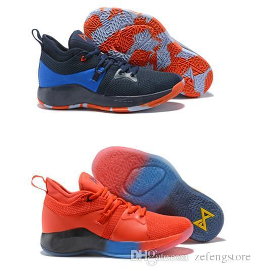 e52a61c3d41 2018 Best Quality Paul George 2 II PG2 PlayStation Men S Basketball Shoes  For Dark Blue Black PG 2s Sports Athletics Sneakers Size 7 12 UK 2019 From  ...
