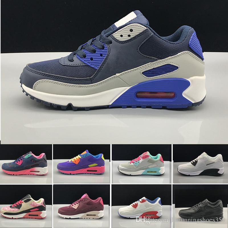 d813863b4da1 2018 Hot Sale Cushion 90 Casual Shoes Women 90 High Quality New Sneakers  Cheap Sports Shoe Size 36-40 Casual Shoes 90 90s Online with  123.36 Pair  on ...