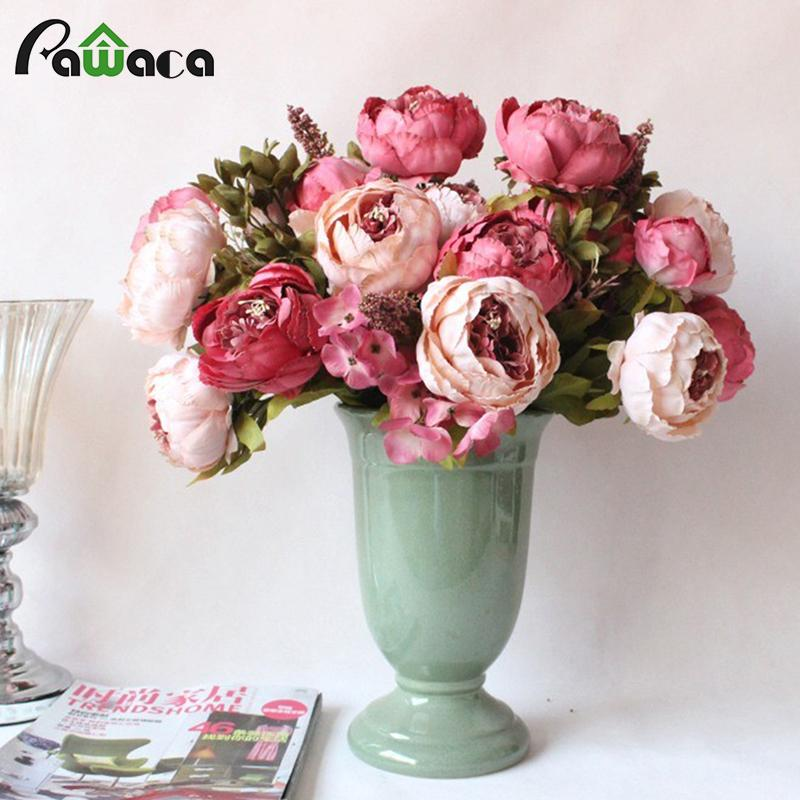 Online cheap 13 heads bouquet large artificial peony artificial online cheap 13 heads bouquet large artificial peony artificial flowers silk decorative fake flowers for hotel wedding garden home decor by chinasmoke mightylinksfo
