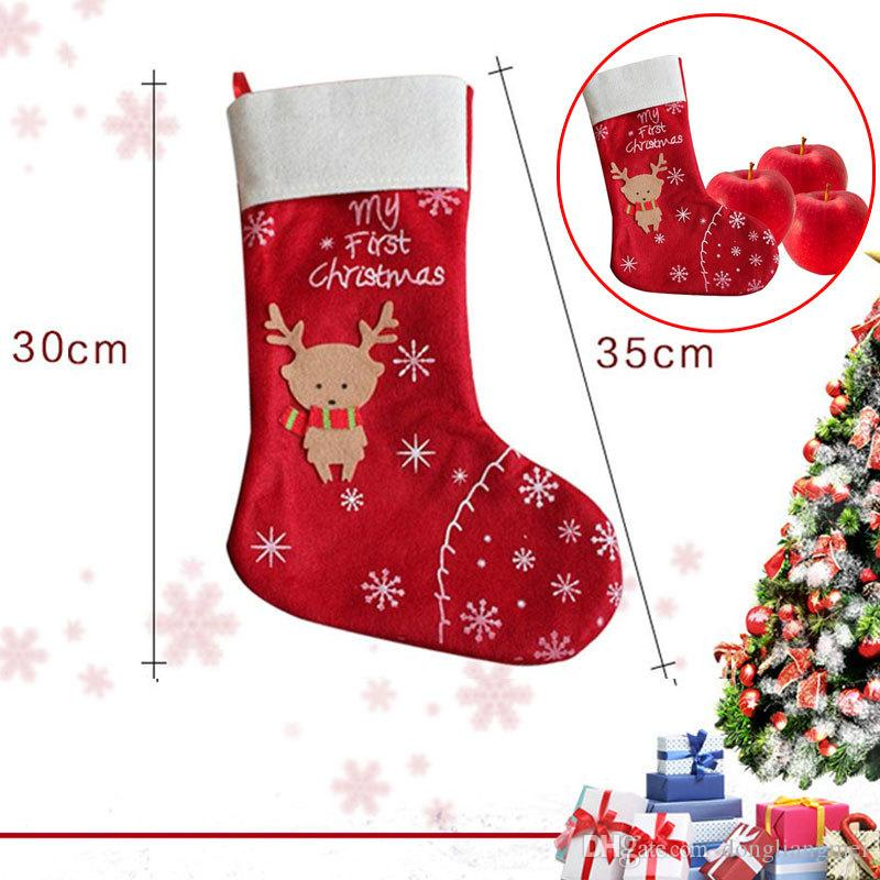 stockings socks red festive party supplies wn486 christmas decorations sale cheap christmas decorations sale online from dongliangmei 081 dhgatecom