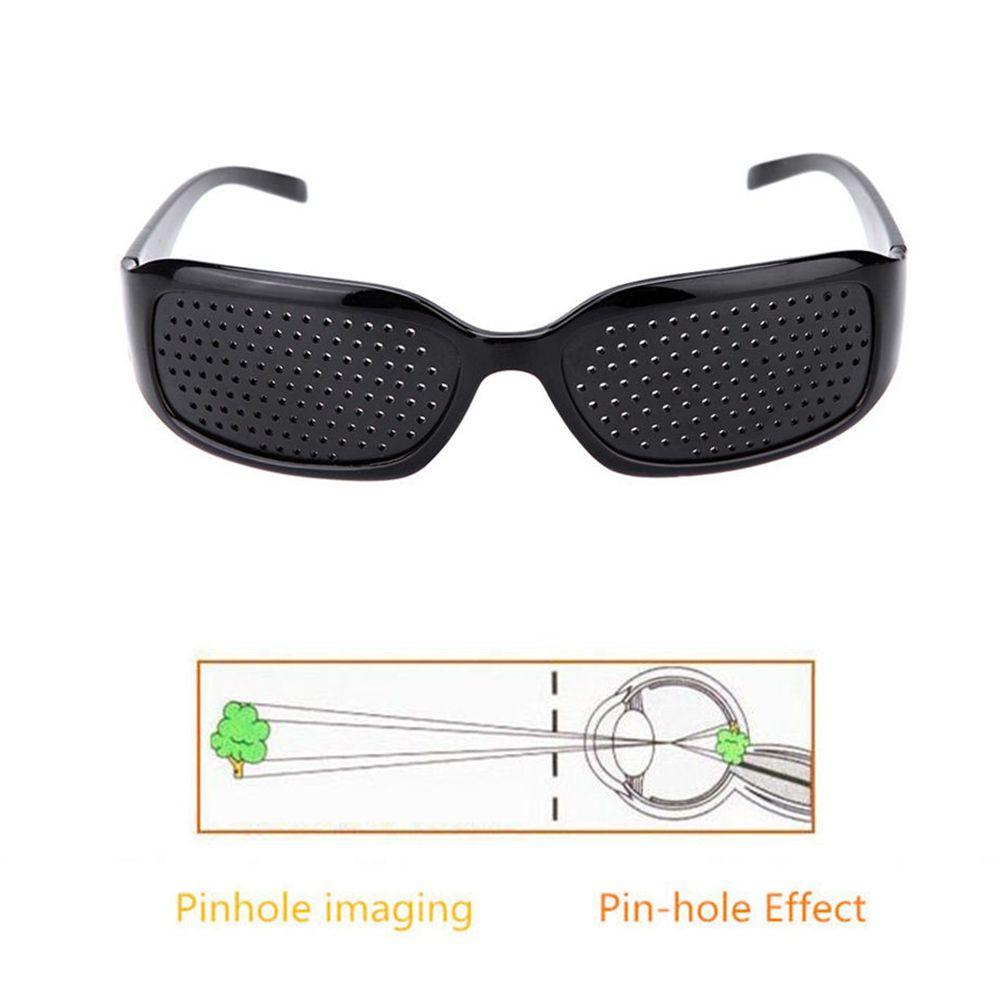 f2bb6e8ab39 Black Pinhole Sunglasses Anti Fatigue Vision Care Pin Hole Microporous  Glasses Eye Exercise Eyesight Improve Anti Myopia Cheapest Eyeglass Frames  Colored ...