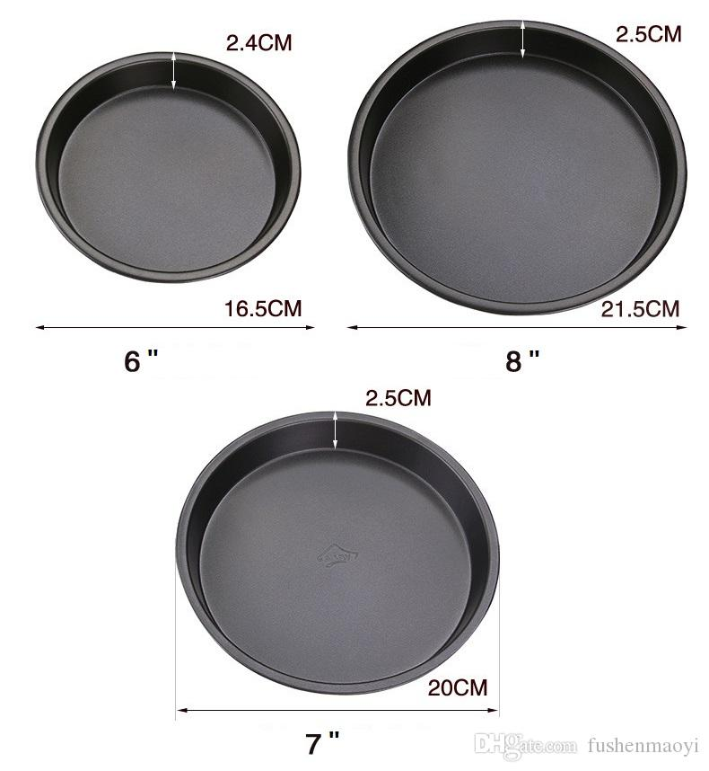 """Carbon Steel Non-stick Pizza Baking Dishes 6"""" 7"""" 8"""" Baking Pastry tools Pizza Mold Bakeware Pizza Pans"""