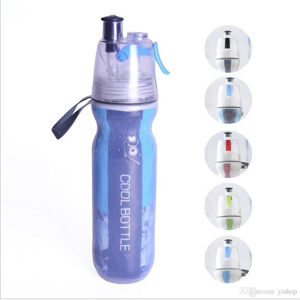 Творческий чайник держать холодной бутылки охладитель воды держать льда спрей воды Кубок 500 мл открытый Велоспорт кемпинг бутылку воды двухэтажный кружка пива