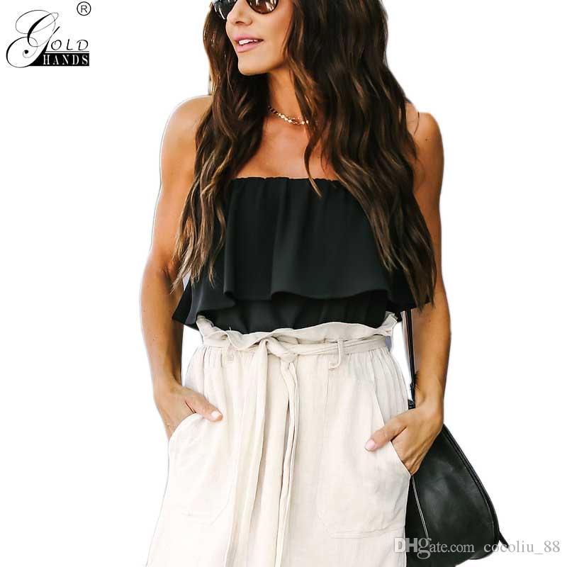 d2b8ccd4a9f Gold Hands Summer Autumn Women Streetwear Fashion Solid Sashes A ...