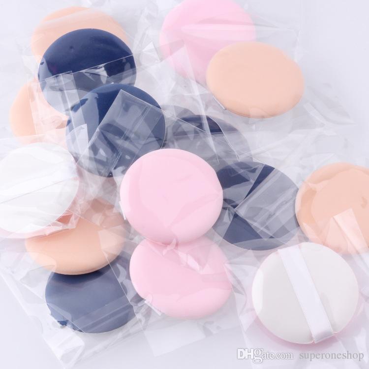 Professional Wholesale Woman Facial Soft Cotton Sponge Powder Puff Pads Face Foundation makeup sponge Cosmetic Tool DHL