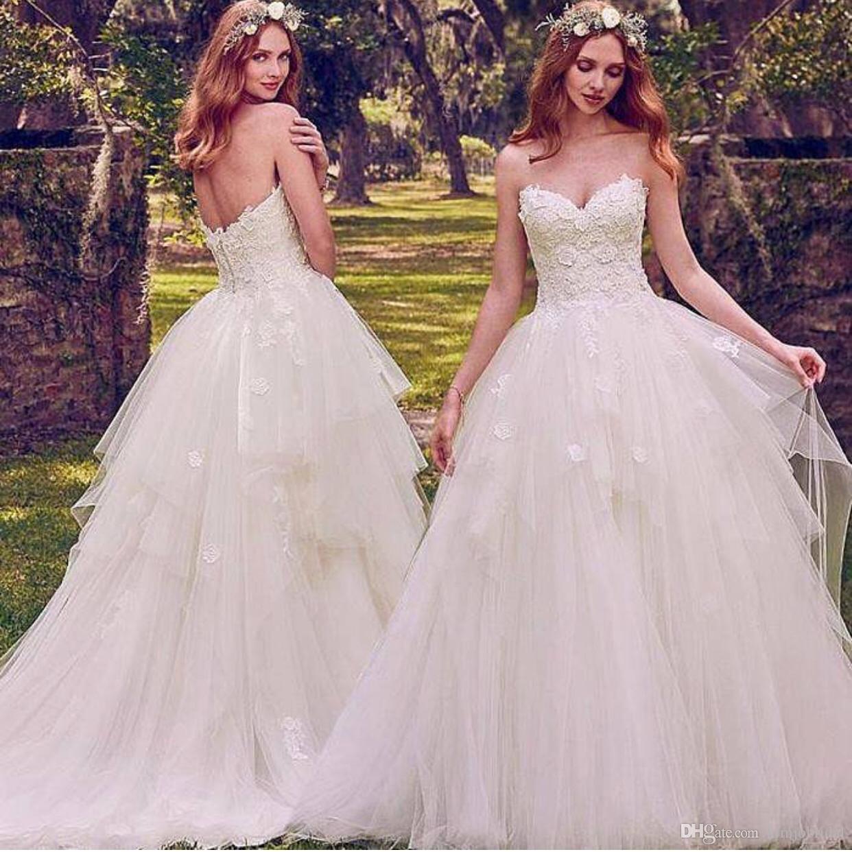2d2251f0d58 White Cheap Wedding Dresses 2019 Western Style Lace Applique Elegant ...