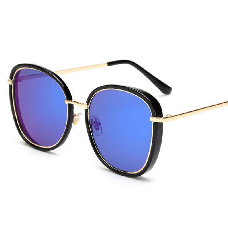 1d3af5414e346 Compre 2018 Mais Recente Tendência Mulheres Óculos De Sol Senhora New  Designer Rodada Retro Óculos De Sol Mulher Casaco Rosa Proteção Solar Óculos  De Sol ...