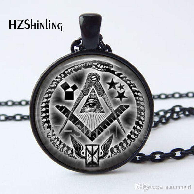 CR-000 New Arrival Illuminati Pendant Necklace Satanism Satanic Baphomet Freemason Lilith Pentagram Pendant Art Photo Necklace