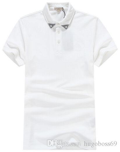 Cheque Inglaterra Novo Verão Camisas Camisas Polo de Algodão Britânico  Homem de Manga Curta Londres Sólida 3899fca9adb30
