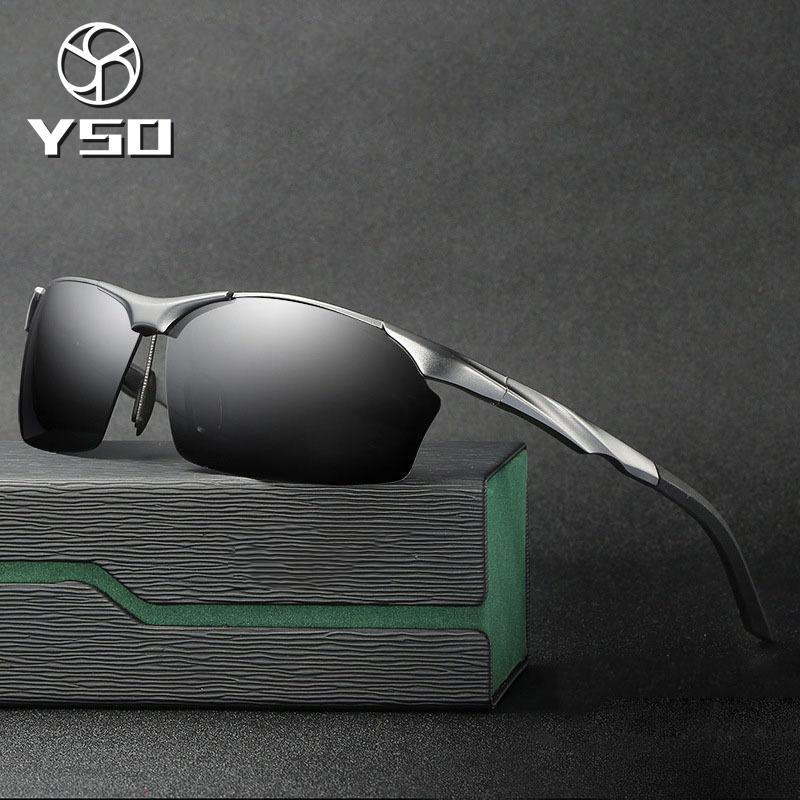 baa15dbbd00 YSO Sunglasses Men Polarized UV400 Aluminium Magnesium Frame Sun ...