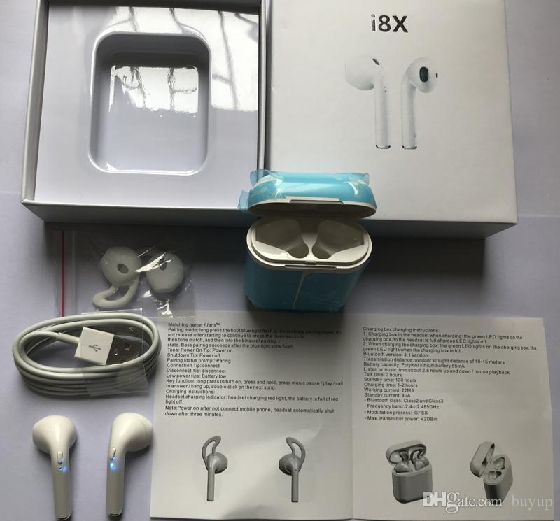 I8x Tws Bluetooth Headphones Twins Wireless Earphones Stereo Earbuds