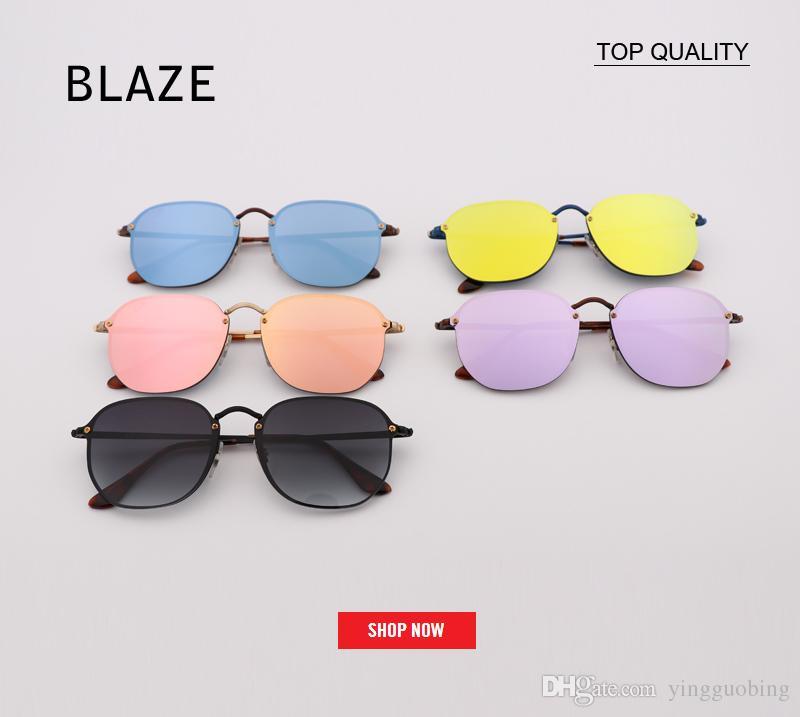 f7c0af228 2018 New Style RLEI DI 3579 Hexagon Sunglasses for Women Men Luxury ...