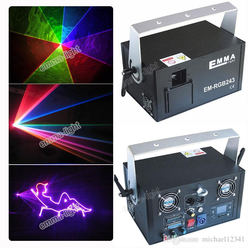 Ishow Software in sd card Cheap Price Professional DJ Equipment 2W RGB Full  Color DMX ILDA Stage Disco Cartoon Laser Lighting Effect