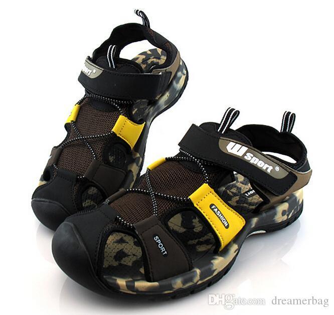 4a1006d6f Wholesale 2016 Men S Sandals Summer Fashion New Wear Resistant Rubber Sole  Sandals For Men Men Casual Beach Sandals And Slippers XG11 8 Green Shoes  Shoe ...