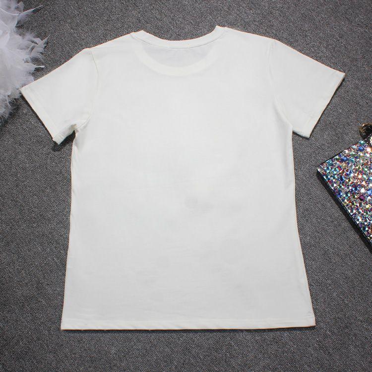 2018 여름 새 패션 여자 큰 눈 거 즈 고리 라이크라 코 튼 t- 셔츠 유럽 조 수 브랜드 짧은 소매 블라우스 셔츠 크기 S-4XL