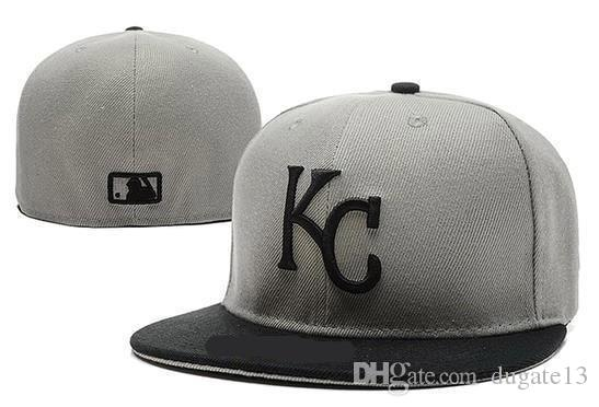 297e9538d9b67 Top Sale Royals Fitted Caps KC Letter Baseball Cap Embroidered Team ...