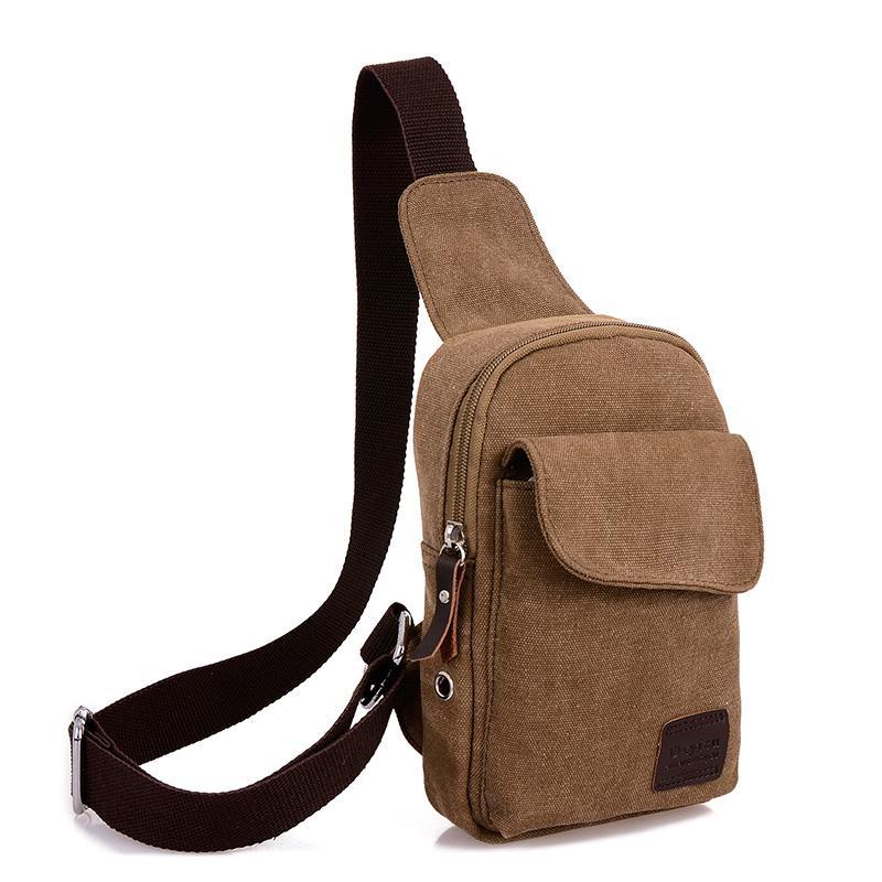 Sacs à bandoulière en toile pour hommes de loisirs petits sacs à bandoulière pour les sacs de messager pour femme