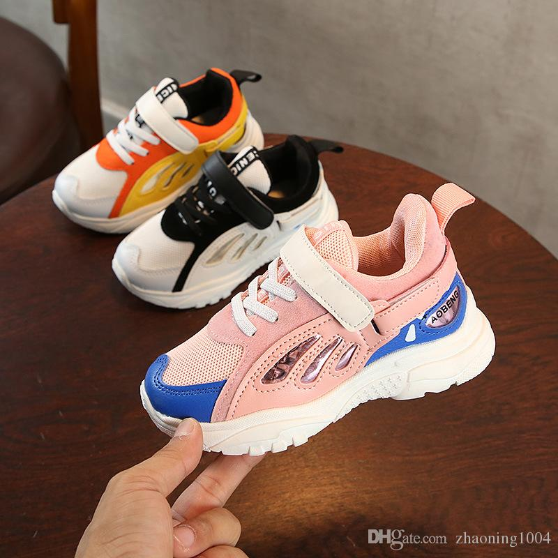 6cc72a0debad Cheap Designer Kids Shoes Baby Toddler Run Sneakers Infant Running Boots  Children Youth Boys Girls Trainers Basketball Chaussures Pour Enfants