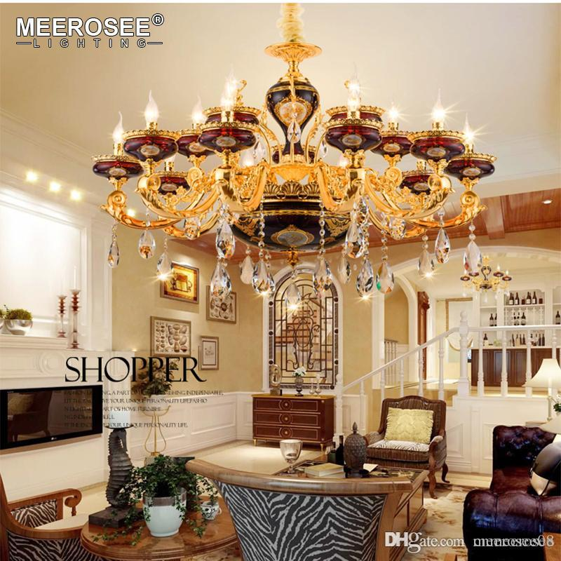 Luxury Crystal Chandelier Light Luminaire Hanging Lamp Fixture For ...