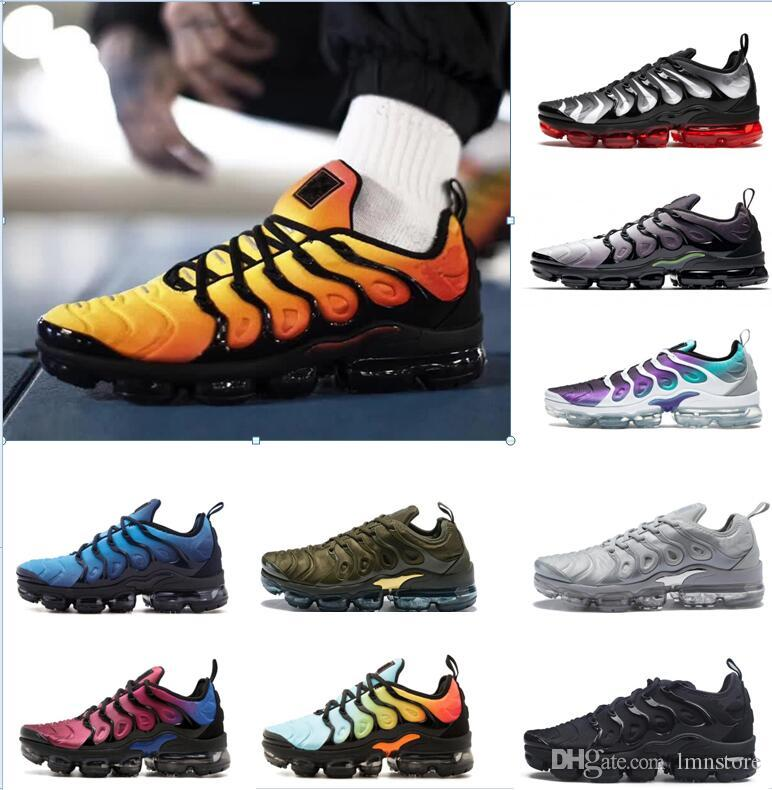 quality design a6bf0 24379 Acquista 2018 VaporMax TN PLUs VM OliVe In Metallo Bianco Argento Colorways  Shorts Running Scarpe Da Uomo Pack Triple Black Men Airs ShOes A  52.8 Dal  ...