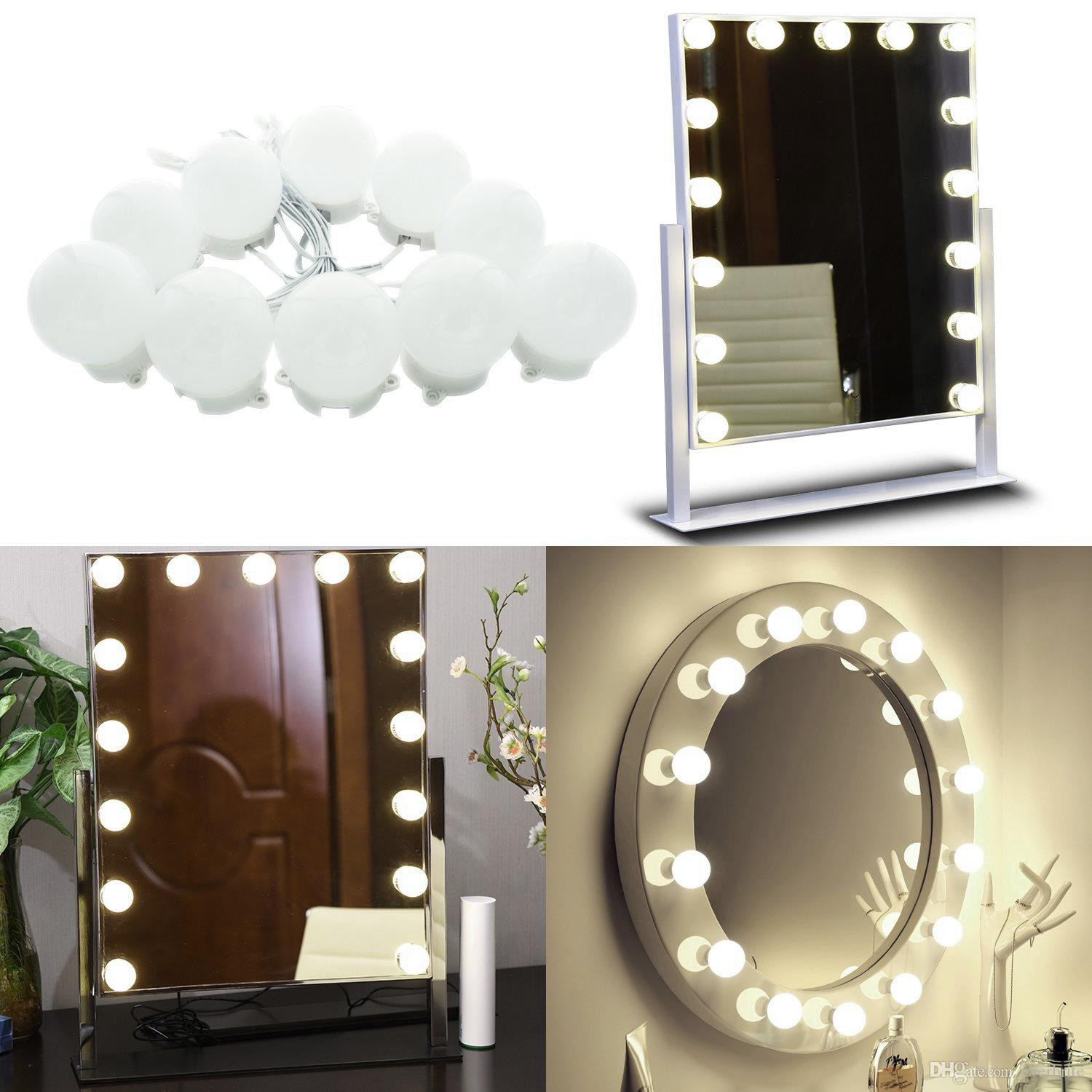 2018 Hollywood Vanity Lights For Big Makeup Table Set In Dressing Room,  Linkable Mirror Light Bulb For Makeup, Cosmetic10 Bulbs Natural White From  Everbrite ...