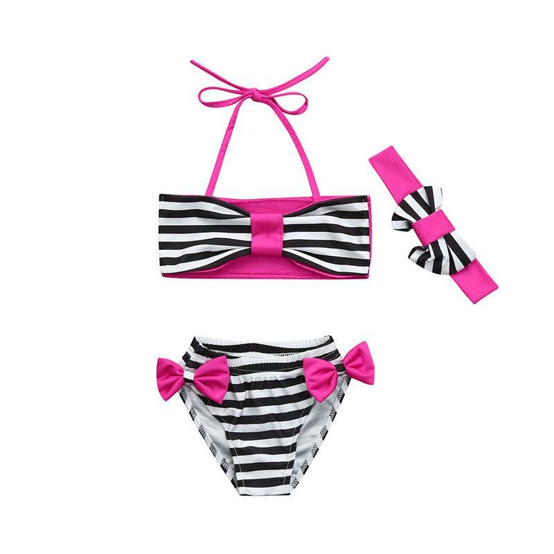 7a6d72285220 2019 %Infant Kids Baby Girls Swimwear Striped Bowknot Straps Bathing Bikini  Set Toddler Swimwear Kids Girl From Friendhi, $32.75 | DHgate.Com
