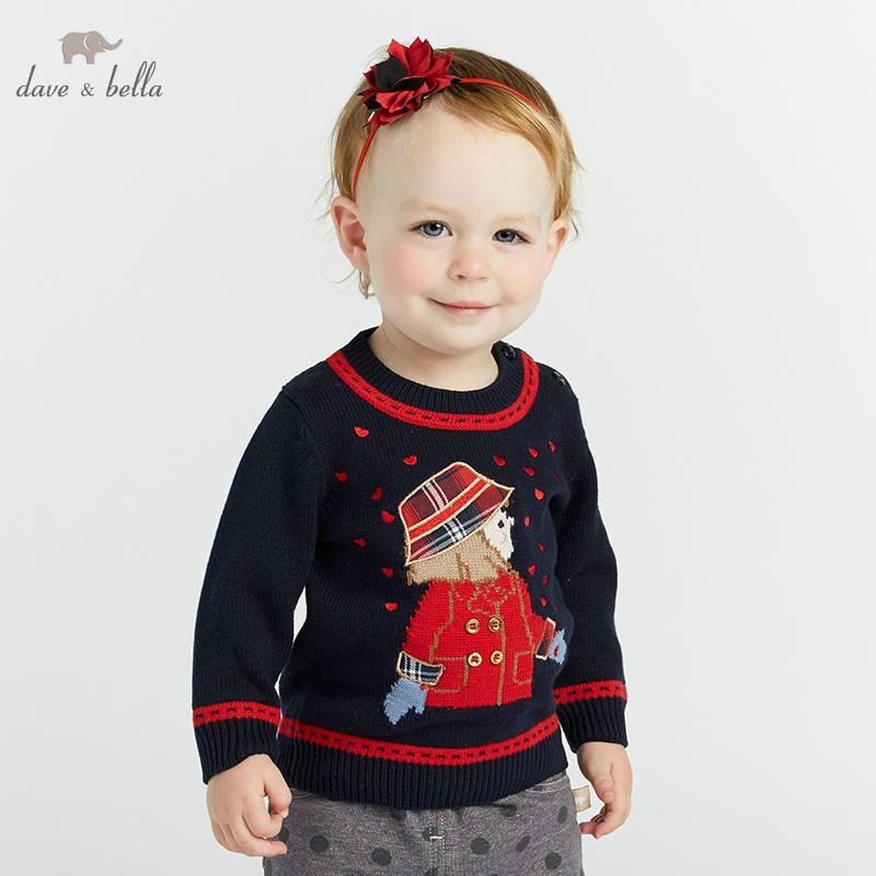 a2069aba8 DB8434 Dave Bella Autumn Infant Baby Girls Fashion Top Kids Toddler  Pullover Children Boutique Navy Knitted Sweater Sweater Patterns Knitting  Pattern ...
