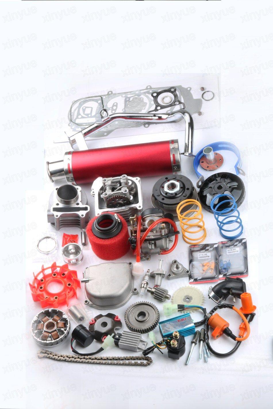 52mm 105cc Big Bore Performance Kit A9 Cam CDI Carburetor GY6 50cc 139QMB  /139QMA 6 colors available