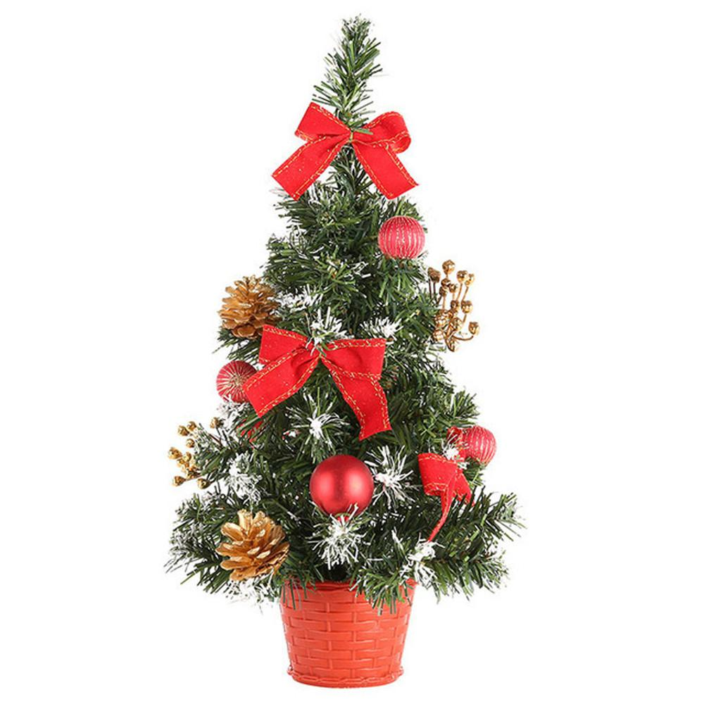 2019 year artificial tabletop mini christmas tree decorations festival miniature tree 40cm garden decoration christmas decoratio online with 1926piece on
