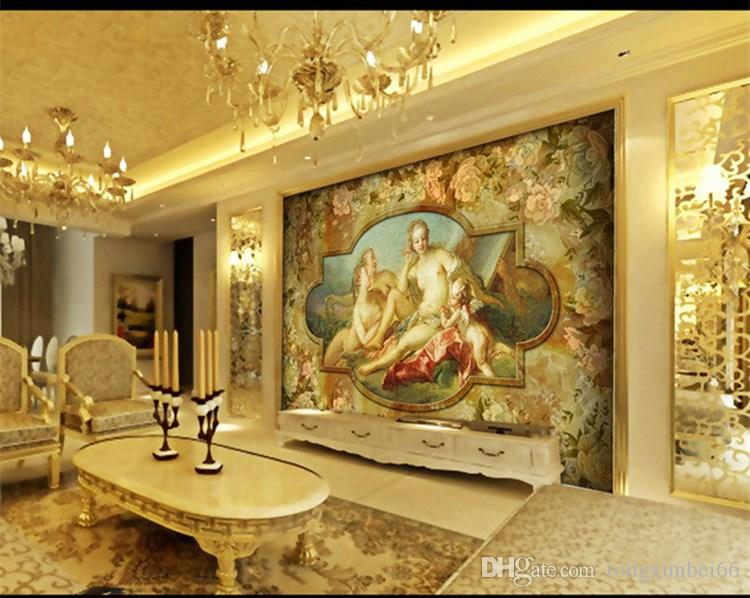 3d Wallpaper Photo Custom Size Mural Living Room Cherub And Mary Oil Painting Sofa TV Background For Wall Free Download