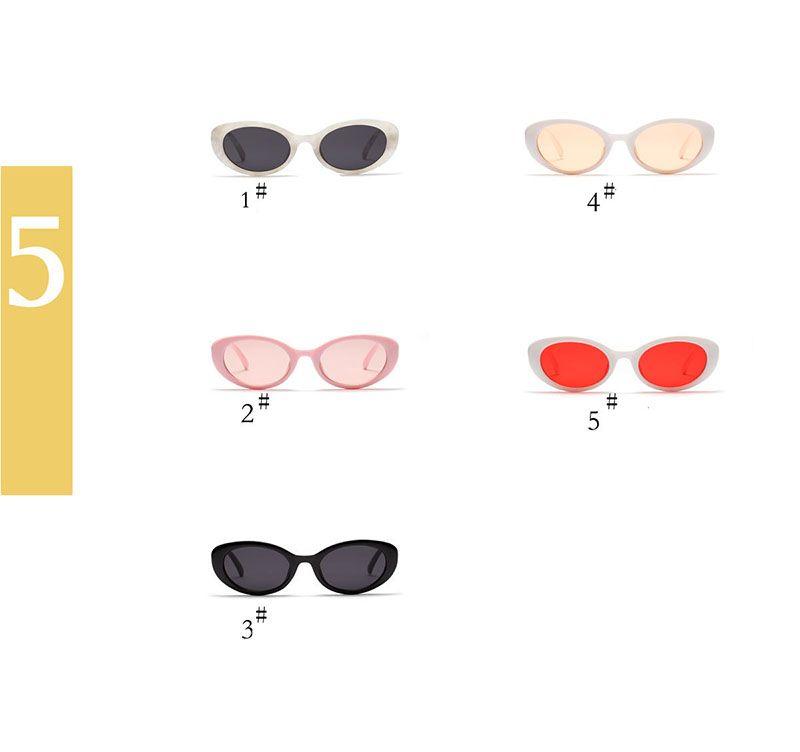 Cute Sexy Ladies Cat Eye Sunglasses 2018 Mujeres Vintage Brand Small Round Sun Gafas para Mujeres Mujeres Ovalado Glasses UV400