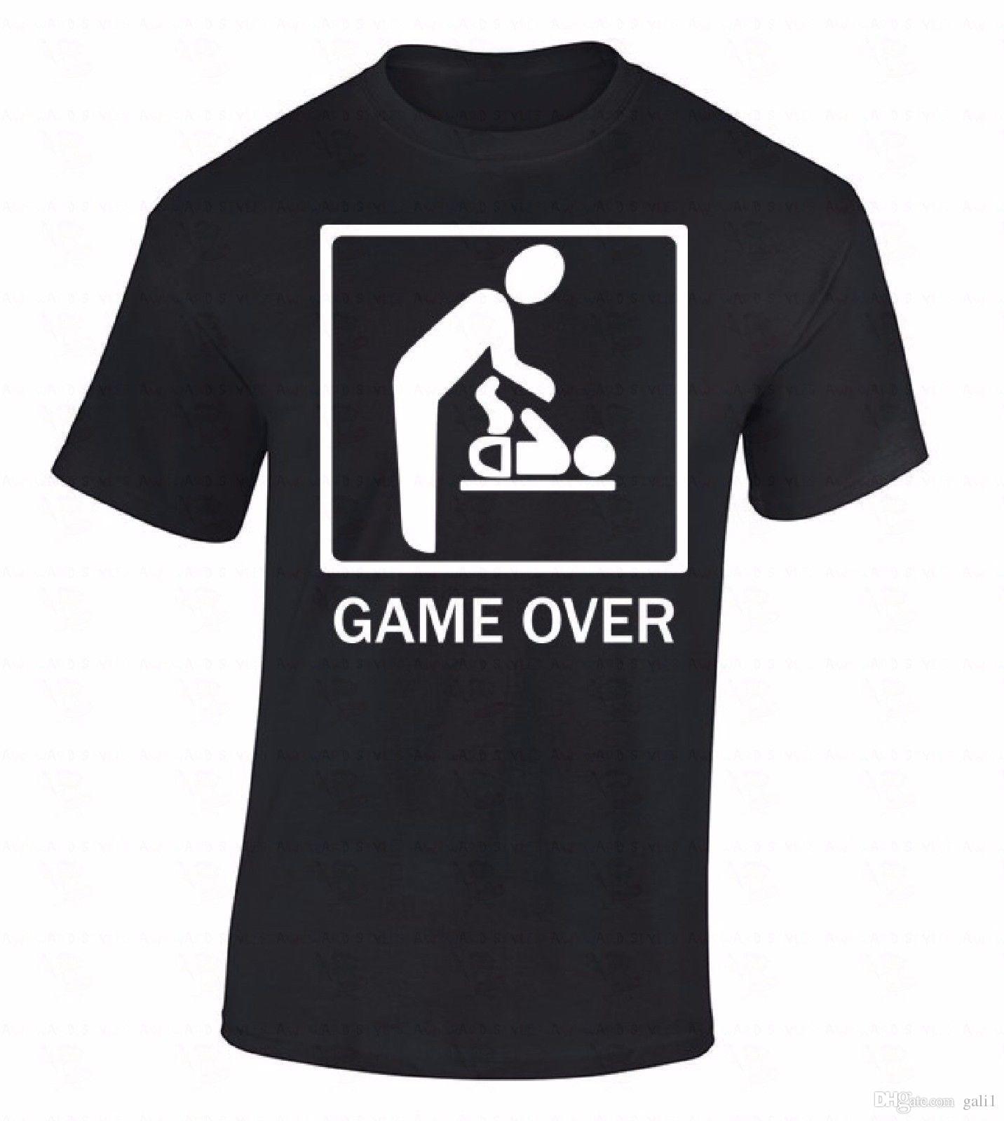 Großhandel Spiel Über T Shirt Hochzeit Ehe Elternteil Kind Lustige Humor  Witz Geschenk Shirt Neue Metall Kurzarm Freizeithemd Von Gali1,  11.56 Auf  De. 69c460f1bc