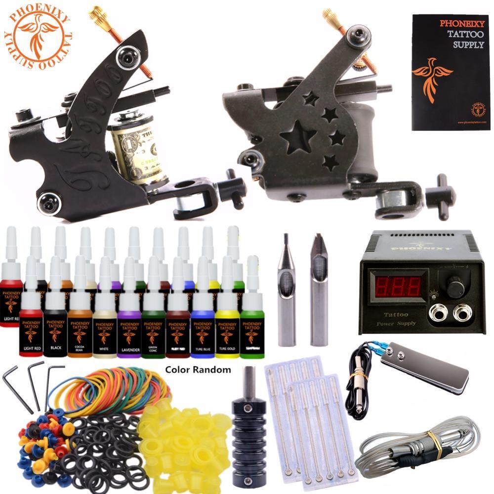 Completed Tattoo Kit Equipment Tattoo Machine Gun Power Supply Gun
