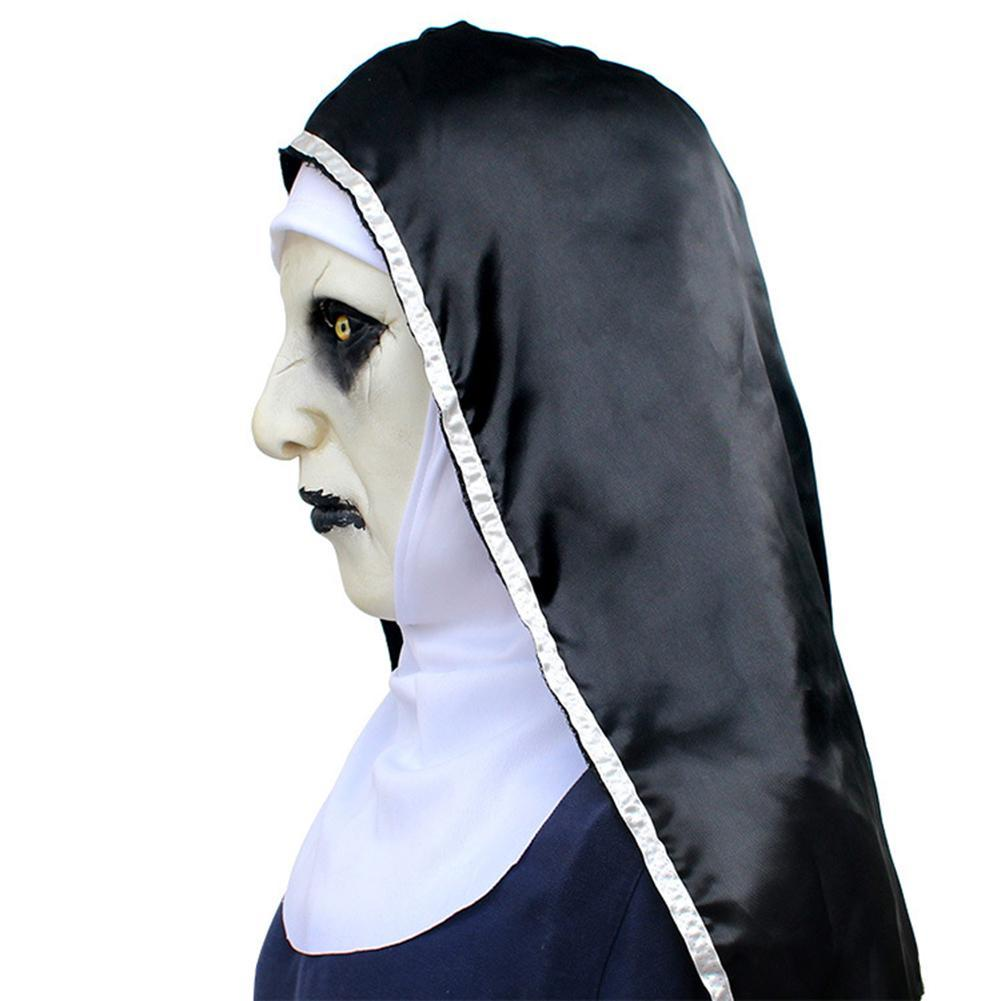 Nun Mask Scared Female Face Wig Celebrations Halloween Theme Party Cosplay Bar Performances Night Performances Carnival Personal