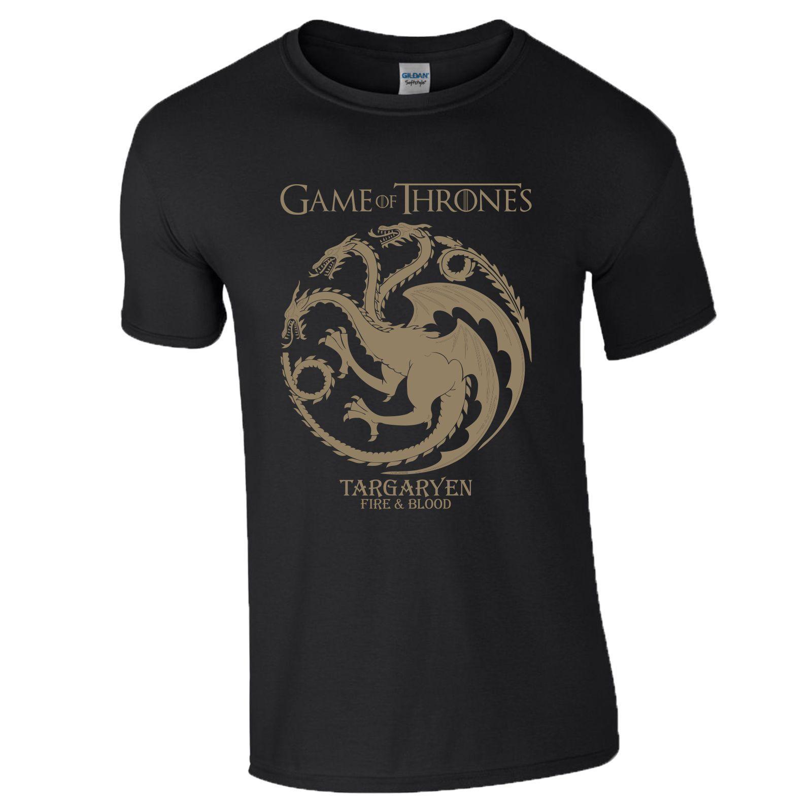 43107ac56 Game OF Thrones T Shirt TV Series Targaryen Khaleesi Fire Blood Gift Mens  Ladies Awesome Shirt Design Free T Shirts From Bstdhgate02, $11.01|  DHgate.Com