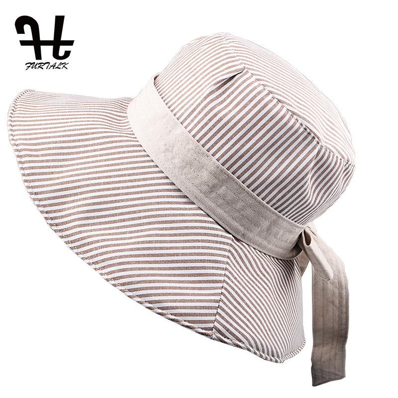 fc4fb8052d27f2 FURTALK Summer Sun Hats For Women Fashion Design Women Beach Cotton Hat  Foldable Brimmed Bucket Hat Top Hats Cloche Hat From Jianyue16, $23.31   DHgate.Com