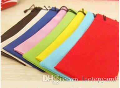High Quality Candy Color Plastic Sunglasses Pouch Soft Eyeglasses Bag Glasses Phone bags Drawstring Sunglasses Cases